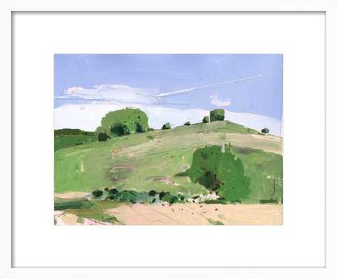 """Fox Hill by Harry Stooshinoff-14"""" x 11""""-White Frame with mat - Artfully Walls"""