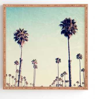 CALIFORNIA PALM TREES Framed Wall Art By Bree Madden - Wander Print Co.