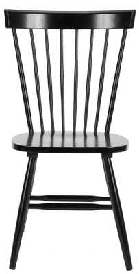 """PARKER 17""""H SPINDLE DINING CHAIR (SET OF 2), BLACK - Arlo Home"""