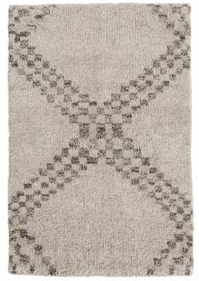 ZILLAH GREY HAND KNOTTED WOOL RUG - Dash and Albert