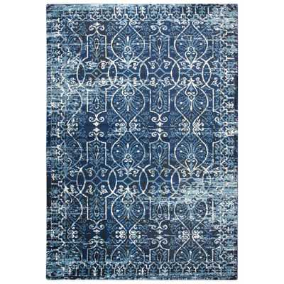 Panache Dark Blue 9 ft. 10 in. x 12 ft. 6 in. Area Rug - Home Depot