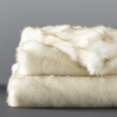 """Faux Fur Blanket, 80"""" X 90"""", White Sable - Williams Sonoma"""