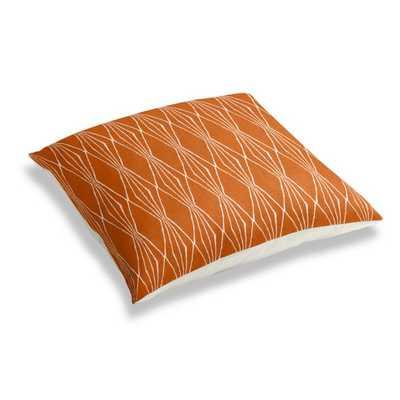 Simple Floor Pillow - Handcut Shapes - Orange Crush - Loom Decor