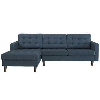 EMPRESS LEFT-FACING UPHOLSTERED SECTIONAL SOFA IN AZURE - Modway Furniture