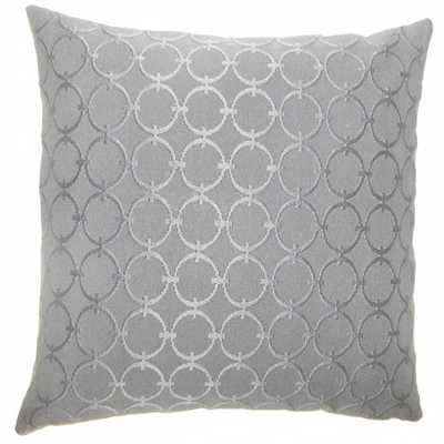 "Vadim Geometric Pillow - 18"" x 18"" - Polyester Insert - Linen & Seam"