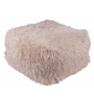 DARLA FAUX FUR POUF, Blush - Lulu and Georgia