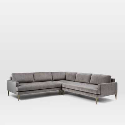 """Andes L-Shaped Sectional, Large 107.5""""w x 107.5""""d x 32""""h - West Elm"""