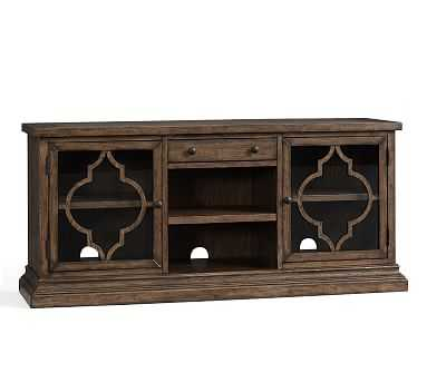 Lorraine Media Console, Hewn Oak - Pottery Barn