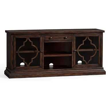 Lorraine Media Console, Rustic Brown - Pottery Barn