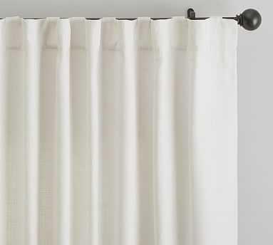 "Cotton Basketweave Drape, 50x96"", Ivory - Pottery Barn"