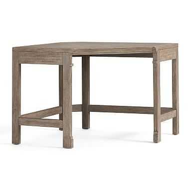 Livingston Corner Desk Top & Legs, Gray Wash - Pottery Barn