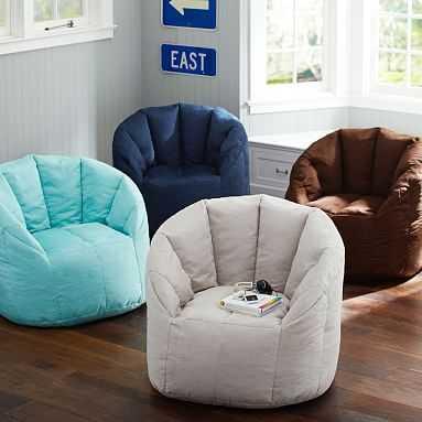 Cushy Club Chair, Navy - Pottery Barn Teen