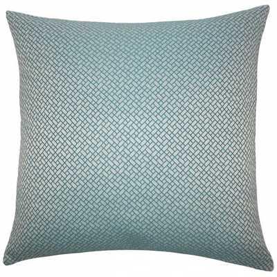 Pertessa Geometric Pillow Teal -20 x 20 - Poly Insert - Linen & Seam