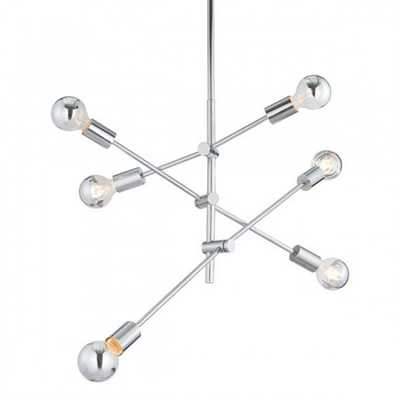 Brixton Ceiling Lamp Chrome - Zuri Studios
