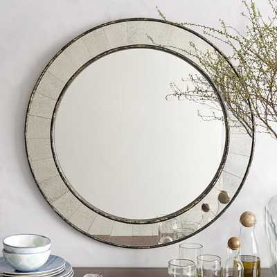 Antique Tiled Round Mirror  Handcrafted - West Elm
