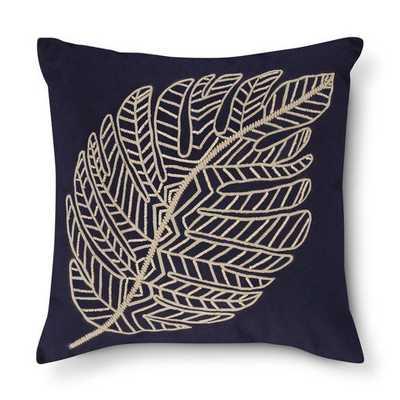 Navy Leaf Throw Pillow - Threshold - Target