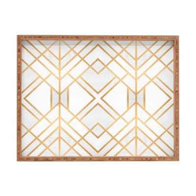 Golden Geo Rectangular Tray - Large - Wander Print Co.