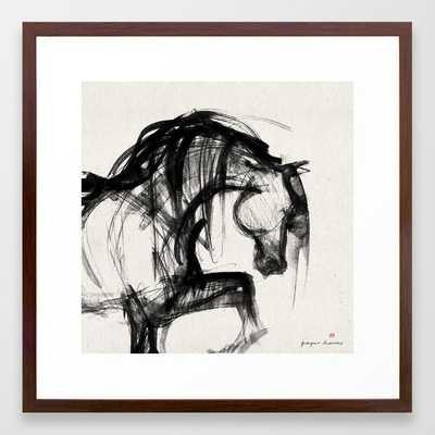"""Horse (Saklavi Portrait) - Walnut Frame 22"""" x 22"""" - Society6"""