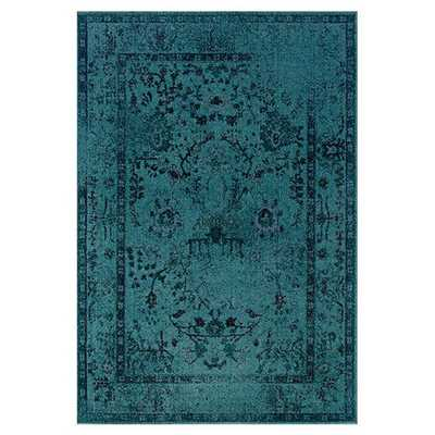 "Graylan Rug Co. Revival Teal Rug - 550H - 5' 3"" X 7' 6"" - Graylan Rug Co."