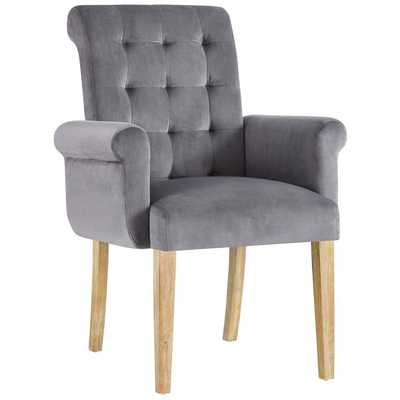 PREMISE WOOD ARMCHAIR IN GRAY - Modway Furniture