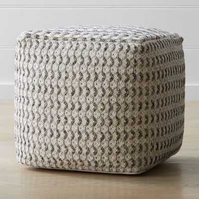 Briar Pouf - Crate and Barrel