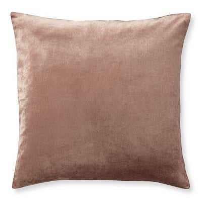 "Velvet Pillow Cover, 22"" X 22"", Apricot - Williams Sonoma"