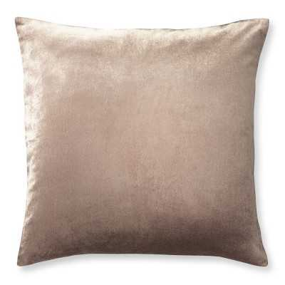 "Velvet Pillow Cover, 22"" X 22"", Blush - Williams Sonoma"