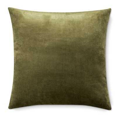 "Velvet Pillow Cover, 22"" X 22"", Sage - Williams Sonoma"