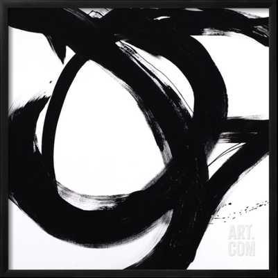 "CIRCULAR STROKES I By Megan Morris - Framed Art Print 30""x30"" - CHELSEA Black Frame - art.com"