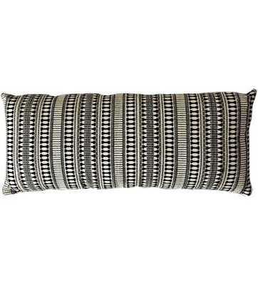 ETOIE LUMBAR PILLOW, BLACK AND IVORY - Lulu and Georgia