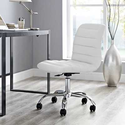 RIPPLE ARMLESS MID BACK OFFICE CHAIR IN white - Modway Furniture