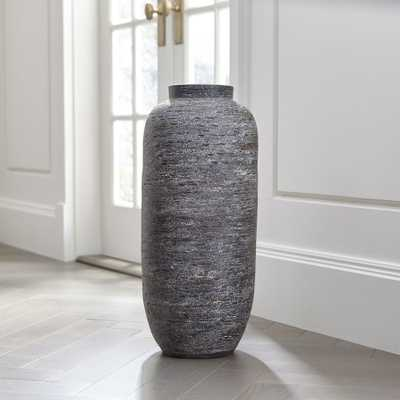Timber Grey Floor Vase - Crate and Barrel