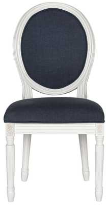 Holloway Navy (Blue) Tufted Oval Side Chair (Set of 2) - Arlo Home
