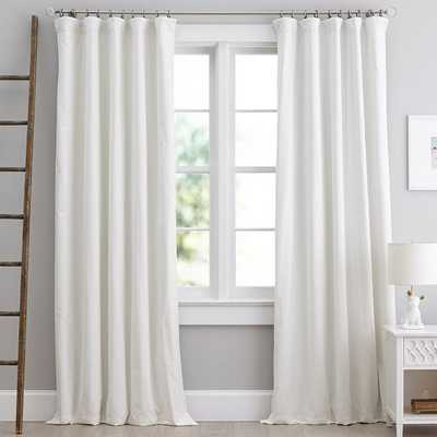 "Velvet Blackout Drape - Ivory 96"" - Pottery Barn Teen"
