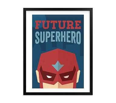 He's a Future Superhero Wall Art by Minted(R) 11x14, Black - Pottery Barn Kids