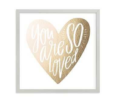 So Loved Heart Wall Art by Minted(R) 11x11, Gray - Pottery Barn Kids