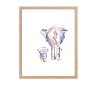 Big and Little 3 Wall Art by Minted(R) 11x14, Natural - Pottery Barn Kids