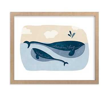 Little Whale Wall Art by Minted(R) 16x20 , Natural - Pottery Barn Kids