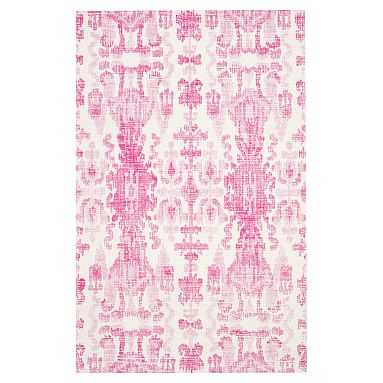 Ikat Rug, 8x10, Pink - Pottery Barn Teen