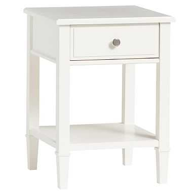 Fairfax Bedside Table, Water-Based Simply White - Pottery Barn Teen