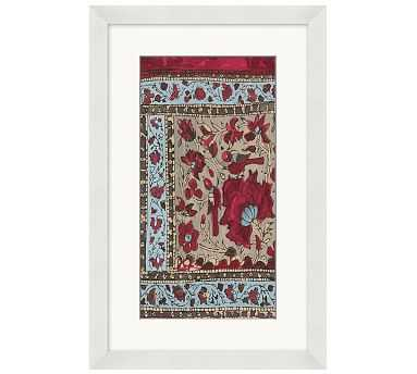 """Relic Textile Framed Print 4, 13 x 20"""" - Pottery Barn"""
