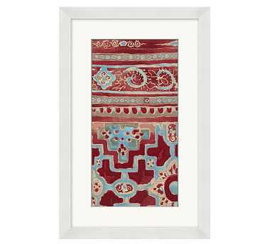 """Relic Textile Framed Print 2, 13 x 20"""" - Pottery Barn"""