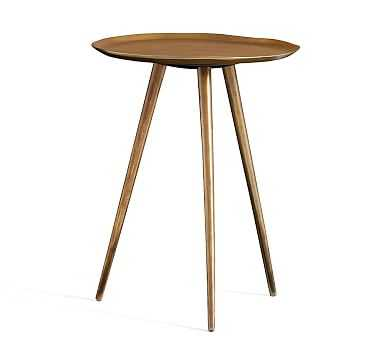 Euclid Round Accent Table, Brass - Pottery Barn