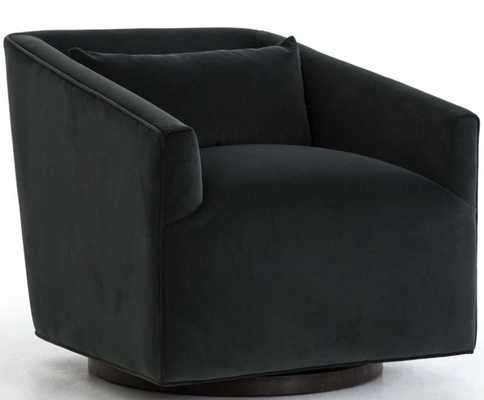 York Swivel Chair, Smoke - High Fashion Home
