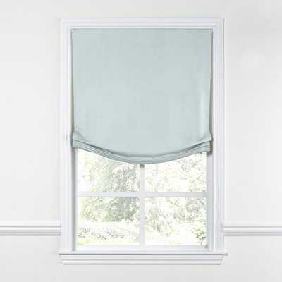 Relaxed Roman Shade  Classic Linen Pure - Sky - 29.5'' x 53.5'' LEFT CORD LOCATION - Loom Decor