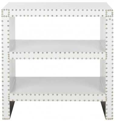 LACEY TWO TIER SIDE TABLE WHITE - Arlo Home