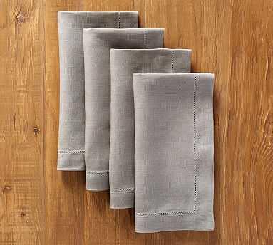 PB Classic Napkin, Set of 4 - Steeple Grey - Pottery Barn