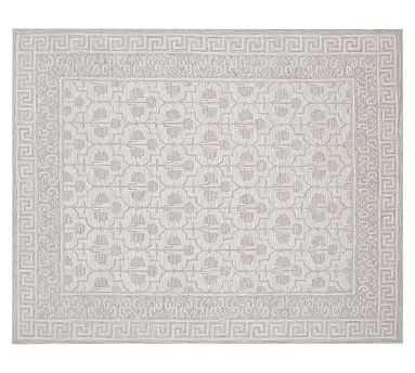 Braylin Tufted Wool Rug, 8x10', Gray - Pottery Barn