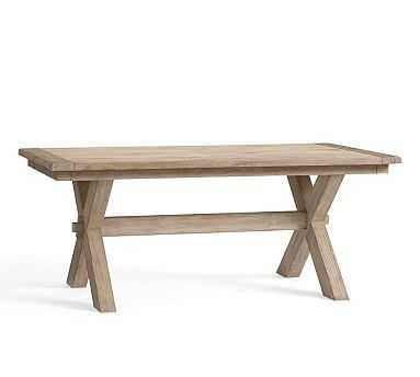 Toscana Extending Dining Table, Large, Seadrift - Pottery Barn