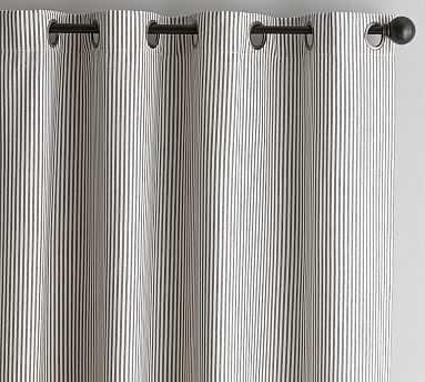 "Wheaton Stripe Drape, 50 x 96"", Gray - Pottery Barn"